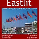 """Archive: Eastlit March 2014 Cover. The Picture is """"Vientiane Flags"""" by Graham Lawrence. The unique Eastlit March 2014 Cover Design is by Graham Lawrence. Copyright Eastlit and Photographer."""