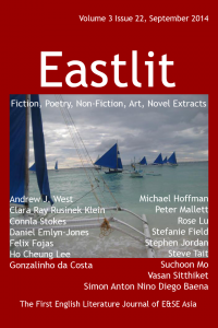Popular Asian Fiction: Eastlit September 2014 Cover. Picture: Boracay Yachts by Simon Anton Nino Diego Baena. Cover design by GrahamLawrence. Copyright photographer, Eastlit and Graham Lawrence.