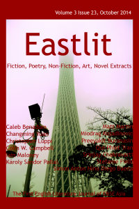 Eastlit October 2014 Cover. Picture: Canton Tower in the Mist by Miodrag Kostadinovic. Cover design by GrahamLawrence. Copyright photographer, Eastlit and Graham Lawrence.