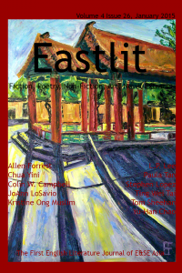 Popular Eastern Writing: Eastlit January 2015 Cover. Picture: Seattle Asiatown Temple by Allen Forrest. Cover design by Graham Lawrence. Copyright photographer, Eastlit and Graham Lawrence.