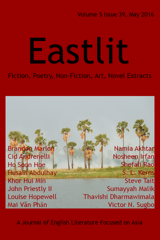 Eastlit May 2016 Cover Picture: Apocalypse by Graham Lawrence. Cover design by Graham Lawrence. Copyright photographer, Eastlit and Graham Lawrence.