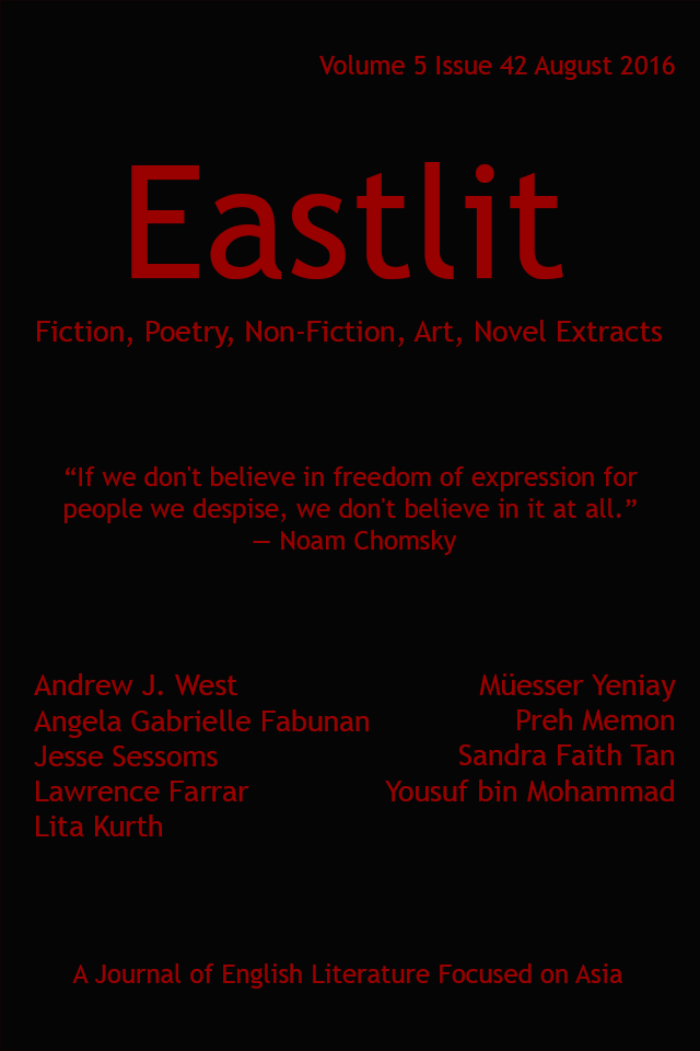 Eastlit August 2016 Cover Picture: Black by Graham Lawrence. Cover design by Graham Lawrence. Copyright photographer, Eastlit and Graham Lawrence.