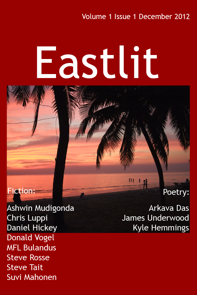 Eastlit Issue One Cover: Wonapha Beach Picture and Design by Graham Lawrence.
