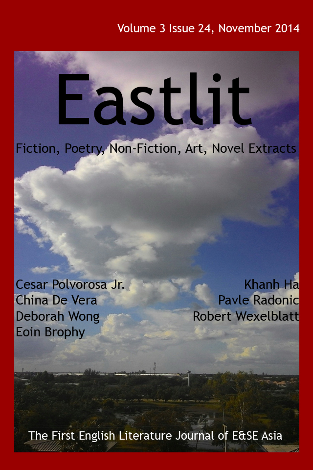 Eastlit November 2014 Cover. Picture: Clouds by Graham Lawrence. Cover design by GrahamLawrence. Copyright photographer, Eastlit and Graham Lawrence.