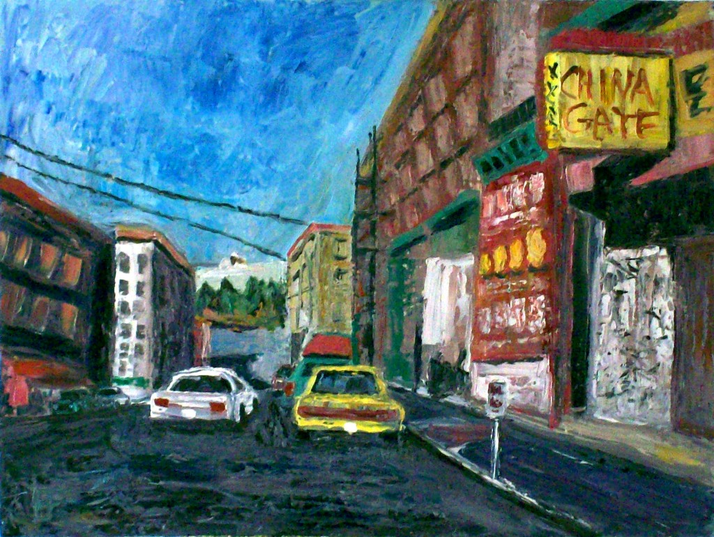 Eastlit January 2015: allen forrest_seattle_asiatown_china_gate_oil_on_canvas_18x24_2011