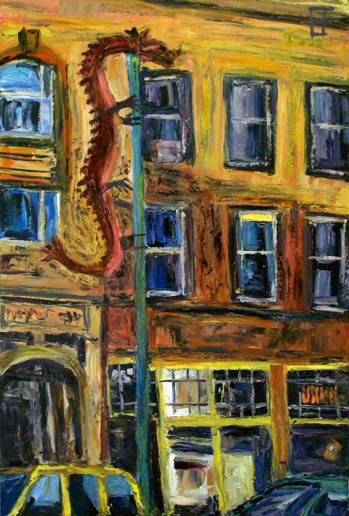 Eastlit January 2015: allen forrest_seattle_asiatown_dragon_oil_on_canvas_36x24_2011