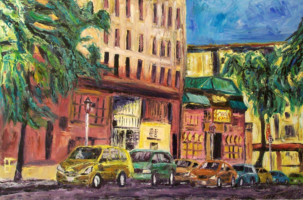 Eastlit January 2015: allen forrest_seattle_asiatown_street_view_2_oil_on_canvas_24x36_2011
