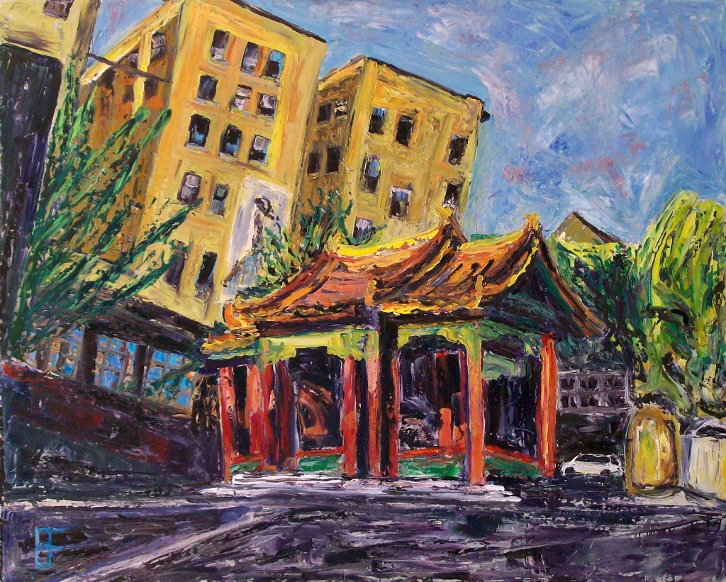 Eastlit January 2015: allen forrest_seattle_asiatown_temple_2_oil_on_canvas_24x30_2011