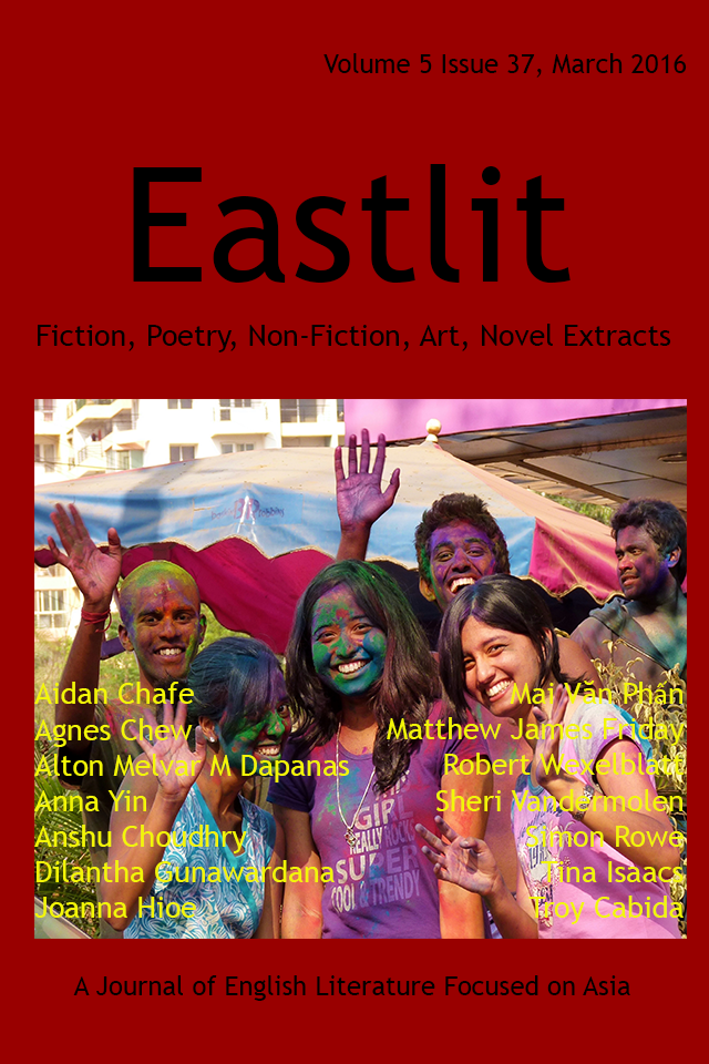Eastlit March 2016 Cover Picture: Holi (11) by Sheri Vandermolen. Cover design by Graham Lawrence. Copyright photographer, Eastlit and Graham Lawrence.